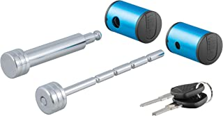 CURT 23505 Right-Angle Trailer Lock Set for 2 Receiver and Up to 3-Inch Coupler Latch Span