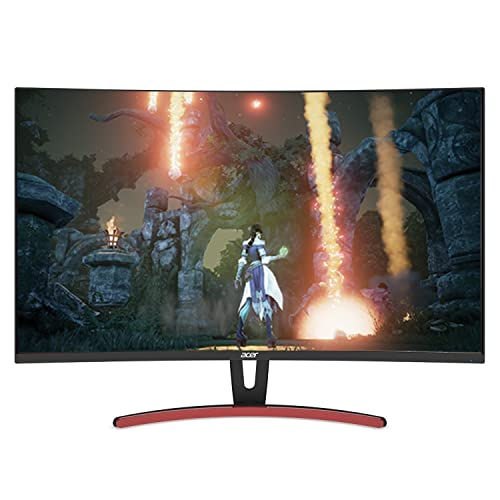Acer ED323QUR Abidpx 31.5 Inches WQHD (2560 x 1440) Curved 1800R VA Gaming Monitor with AMD Radeon FREESYNC Technology - 4ms; 144Hz Refresh Rate; Display Port, HDMI Port & DVI Port,Black