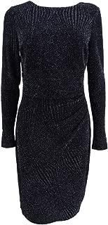 LAUREN RALPH LAUREN Womens Metallic Knee-Length Cocktail Dress