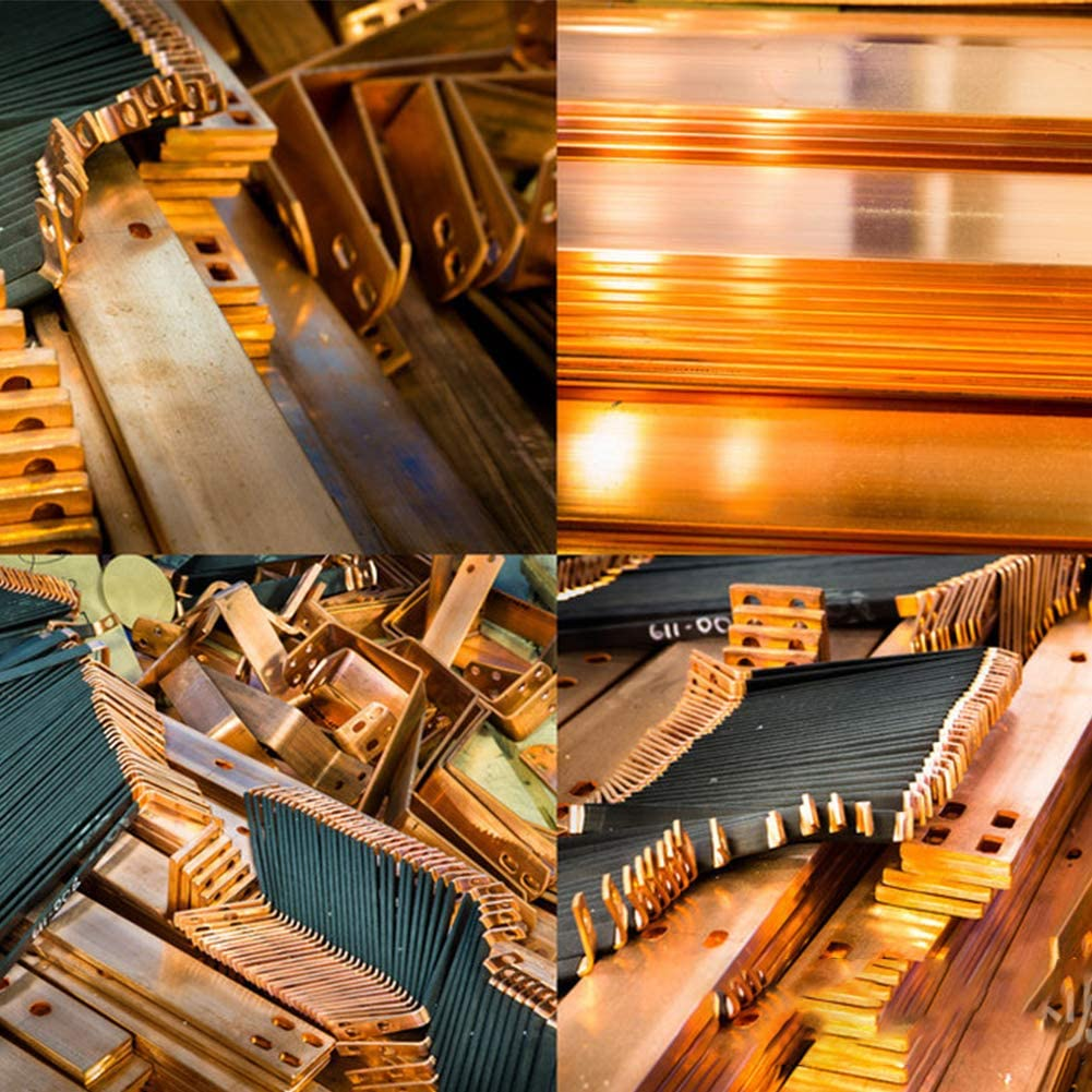 MHUI Calcio A Barra Tondo in Ottone Massiccio Materie Prime in Metallo Ottone,Diameter: 6mm Lunghezza 30cm Diametro 6mm