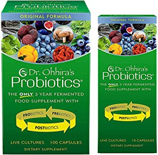 Dr. Ohhira's Probiotics, Original Formula, 100 Caps with Bonus 10 Capsule Travel Pack