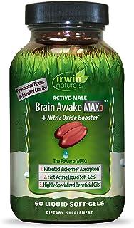 IRWIN NATURALS Brain Awake Max3 + Nitric Oxide Booster 60 Count