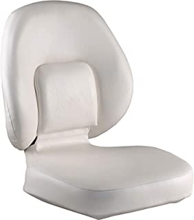 attwood 98386-2 Classic Ergonomic Universal Marine Boat Seat, Two-Tone Gray Finish