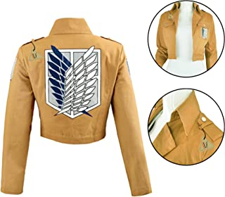 Anime Attack on Titan Cosplay Mens Casual Thicken Hooded Sweatshirt Jacket Coat