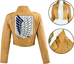 IDS Home Unisex Anime Attack on Titan Recon Corps Jacket Coat Cosplay Costumes Coat Clothes, S