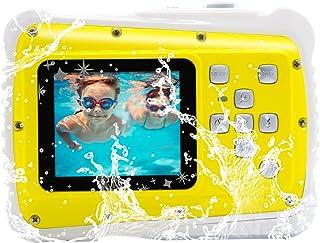 Vmotal GDC5261 Impermeable cámara Digital con Zoom Digital de 8X / 8MP / 2 TFT LCD de la Pantalla/Cámara Impermeable para niños (Amarillo)