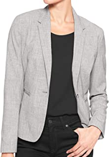 Banana Republic Women`s Washable Grey One-Button Blazer