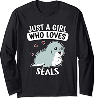 Just A Girl Who Loves Seals Drôle Phoques Costume Manche Longue