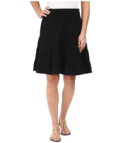 Fresh Produce Jersey Tiered Skirt (Black) Women