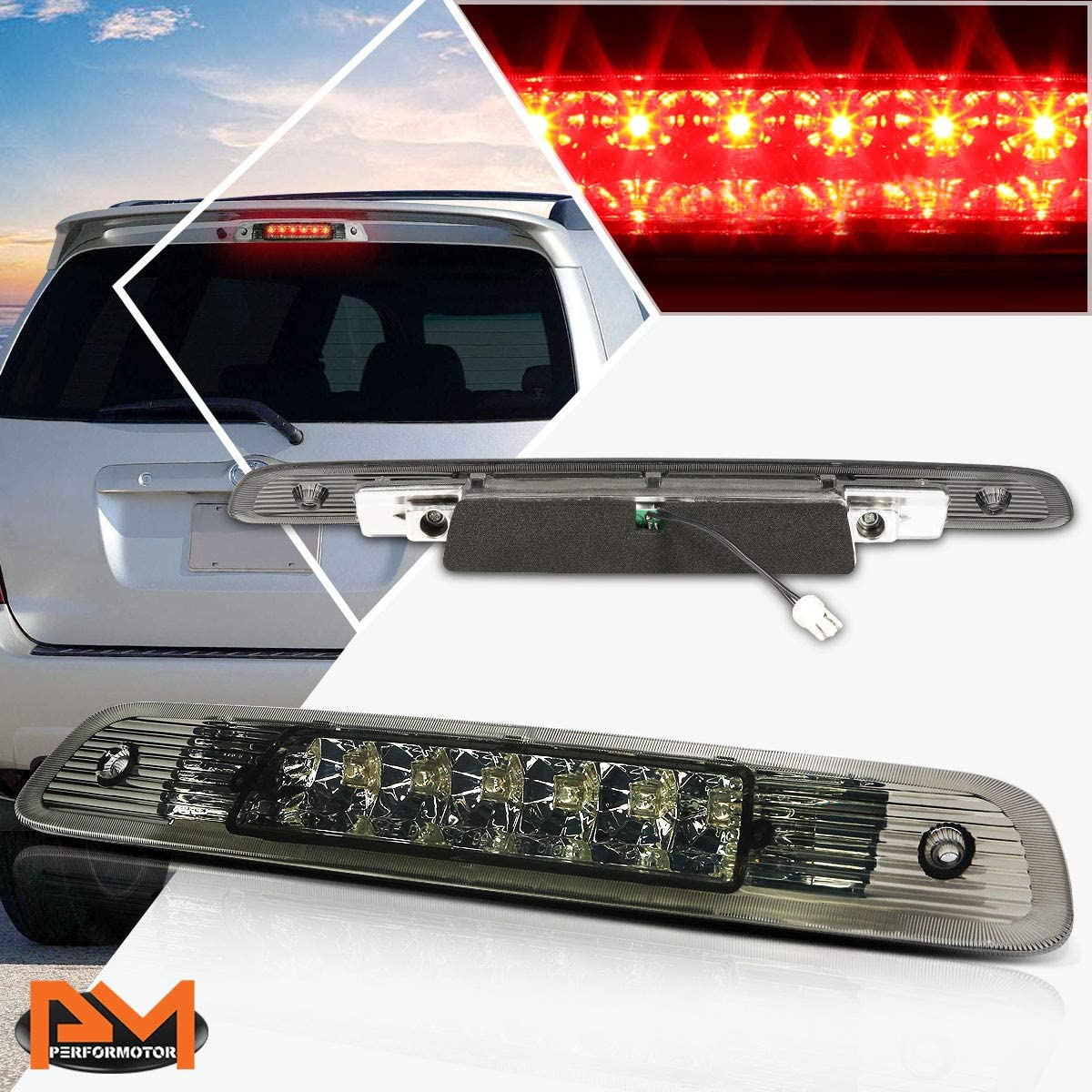 Compatible with Highlander 01-03 Dual Rows quality assurance LED Third 3RD Br Outstanding Tail