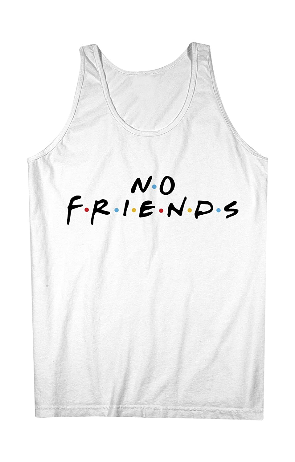 No Friends おかしいです Forever Alone Feels Bad Man 男性用 Tank Top Sleeveless Shirt