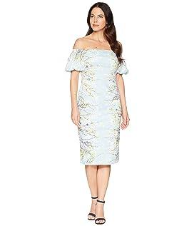 Blossom Branch Cotton Sheath Dress