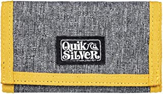 Quiksilver The EVERYDAILY, Monederos. para Hombre, Gris Oscuro Jaspeado, Large