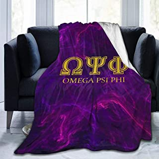 Lesliew Omega Psi Phi Throw Blanket, Flannel Blanket Fur Blanket Halloween Bedding