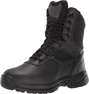 Men's 8-inch Waterproof Side Zip Tactical Boot Non Safety Toe Military