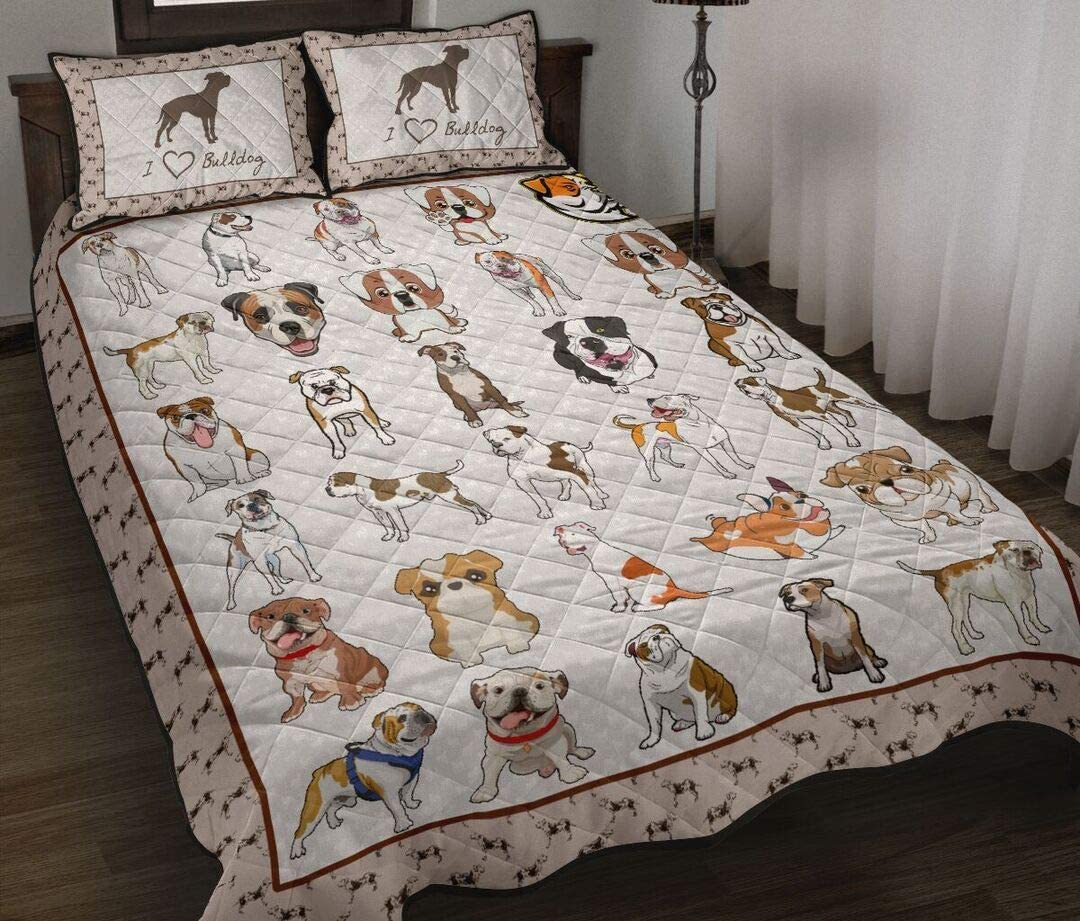 Personalized I Love America Cheap mail order shopping All items in the store Bulldog Twin Quilt King Queen Throw