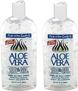 Fruit Of The Earth Aloe Vera 100% Gel 24 oz (2 pack)