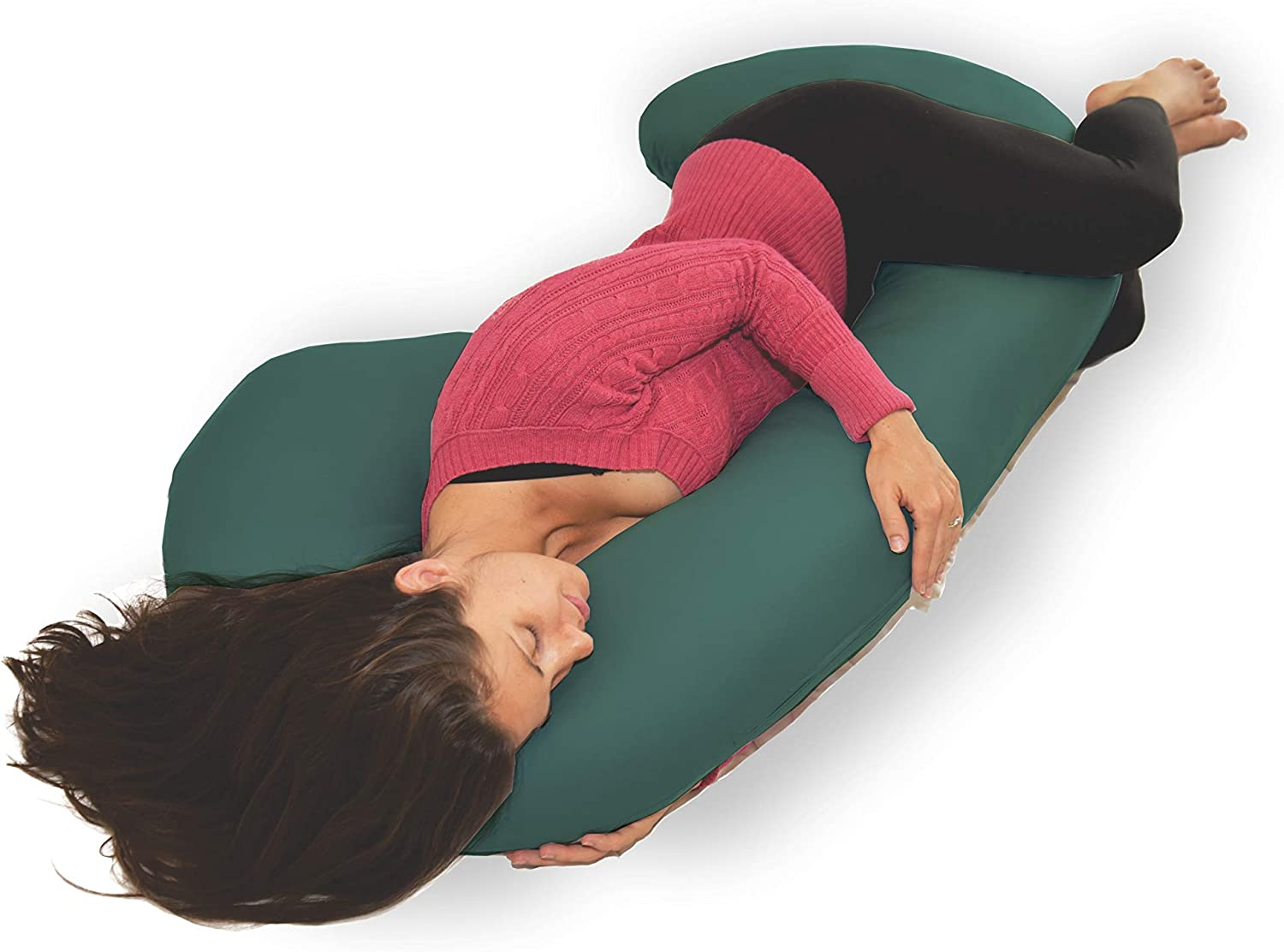 New Microfiber Zippered Replacement Maternity Body Pillow Cover (Green)
