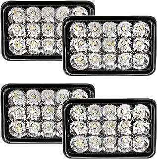 4x V-Spec 4x6 Premium LED Headlight Conversions - Black H4651 H4656 H4666