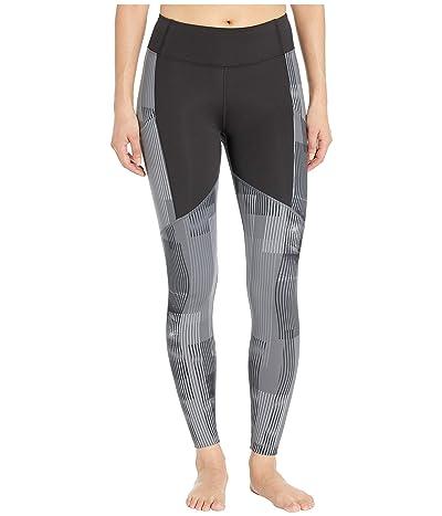 ASICS Printed Train Leggings (Performance Black/Multi Grey) Women