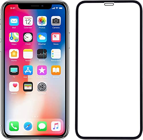 POPIO Tempered Glass For Iphone XS Max Iphone 11 Pro Max Black Edge To Edge Full Screen Coverage
