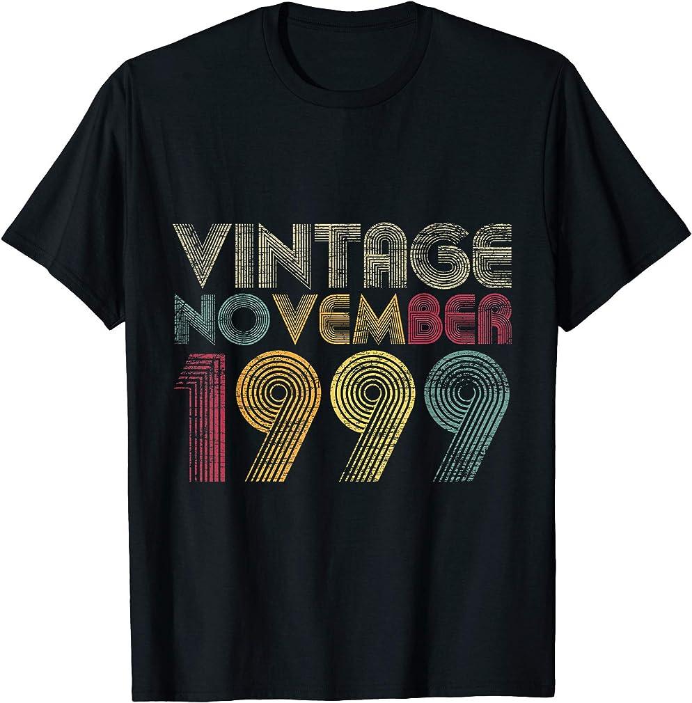 21st Birthday Gifts - Vintage November 1999 T-shirt