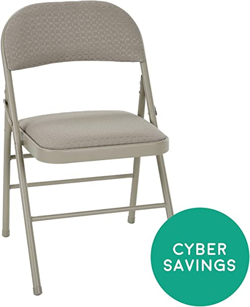 Cosco Delux Padded Folding Chair Tan 4 Pack