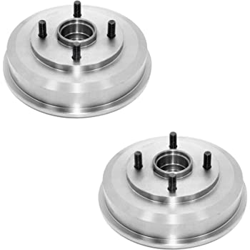 Rear Brake Drum with Bearing Compatible with 2000-2008 Ford Focus