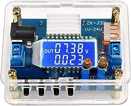 Step-Down Power Module, DROK DC 5V-27V 24V to 1-24V 12V 5V Buck Converter 3A 30W High Accuracy Adjustable DC Voltage Regulator Board Power Capacity LCD Display CC CV Volt Transformer with USB Port