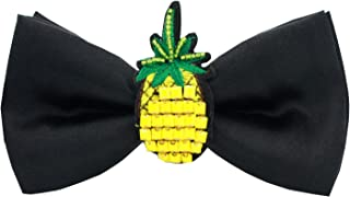 100% Real Silk Pineapple Bowtie