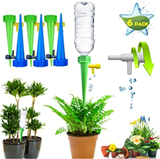 L Pattern 6pcs Automatic Irrigation Drippers Adjustable Self Watering Spikes Gadgets Drip Waterer Watering Stakes Watering...