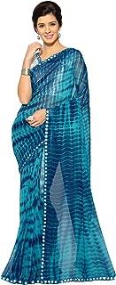 Sourbh Mirchi Fashion Women's Faux Georgette Shibori Print Saree (2681_Color Options)