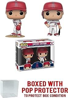 POP! Sports MLB Los Angeles Angles Shohei Ohtani 2 Action Figures (Bundled with Pop Box Protector to Protect Display Box)