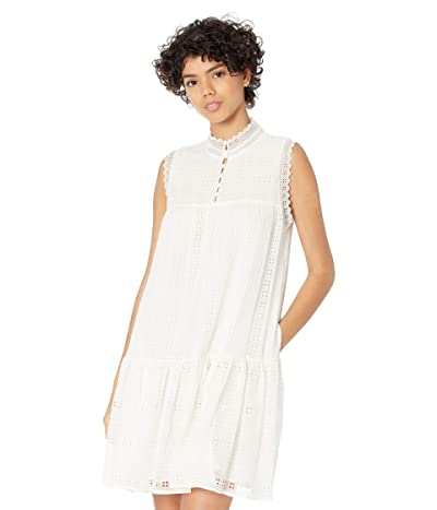 Rebecca Taylor Sleeveless Geo Embroidered Dress Women