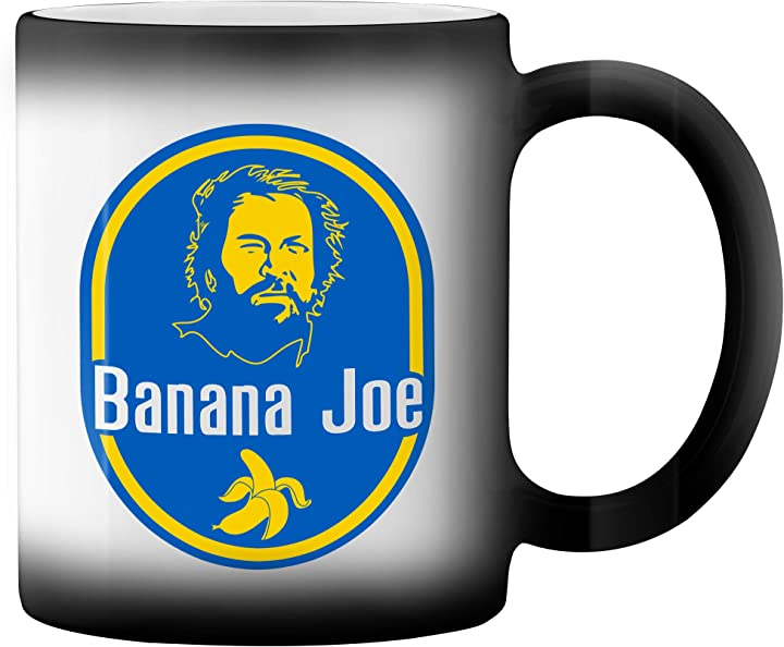 Tazza banana joe bud spencer carlo pedersoli retro black magic coffee mug gr8shop B08X4ZW2MB