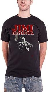 Jimi Hendrix ジミ・ヘンドリックス Block Logo ブロック・ロゴ 公式 メンズ ブラック 黒 Tシャツ