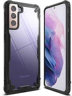 Ringke Compatible with Samsung Galaxy S21 Ultra Cover Hard Fusion-X Ergonomic Transparent Shock Absorption TPU Bumper [ De...