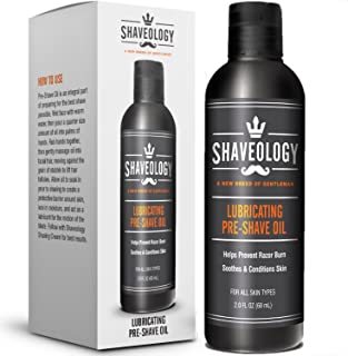 SHAVEOLOGY Natural Pre Shave Oil for Men – 2 Full OZ - Preshave Oil Protects and Hydrates Your Skin - Prevents Razor Burn, Rashes, Bumps and Ingrown Hairs - No Preservatives - for All Skin Types