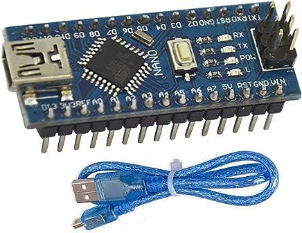 Fasilei 10pcs Nano 3.0 Controller Compatible with for arduino Compatible Nano Atmega328 Series CH340 USB Driver NO with Cable Nano V3.0