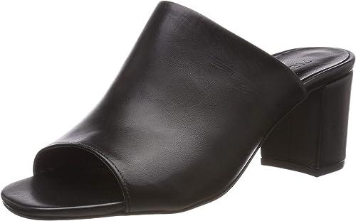 Pieces Psmela Leather Mule, Sandales Bout Ouvert Femme Femme  magasin d'usine
