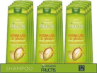 Garnier Multi Pack Shampoo Fructis Hydra Liss & Shine, Shampoo per Capelli Difficili da Lisciare, Secchi o Crespi, 250 ml,...