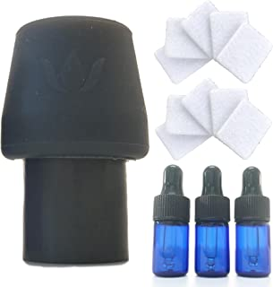 CPAP Infusion Adapter for Essential Oils - Universal Fit with Every Machine, Hose & Mask - Includes 10 Refill Pads, 3 2ml Blue Dropper Oil Bottles & Supplies