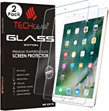 """[2 Pack of] TECHGEAR GLASS Edition for iPad 9.7"""" (2018/2017) - Genuine Tempered Glass Screen Protector Guard Cover Compatible with New Apple iPad 9.7 5th & 6th Gen - Apple Pencil Compatible"""
