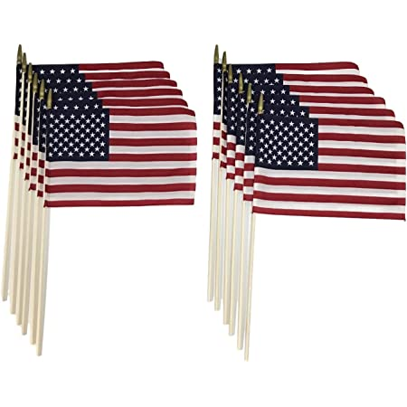 Amazon Com Martin S Flag 8 X 12 American Stick Flags 24 X 5 16 Wooden Dowel Made In Usa Hemmed Edges 144 Garden Outdoor