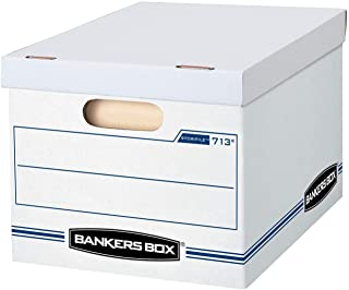 Bankers Box STOR/File Storage Boxes, Standard Set-Up, Lift-Off Lid, Letter/Legal, Case of 30 (0071304), White