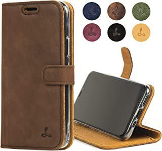 Snakehive iPhone 11 Leather Case,  Luxury Genuine Leather Wallet with Viewing Stand and Card Slots,  Flip Cover Gift Boxed and Handmade in Europe for Apple iPhone 11 (Brown)