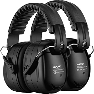 Mpow Ear Protection 2 Packs, NRR 28dB Professional Ear Defenders with a Carrying Bag, Foldable Noise Reduction Safety Ear ...