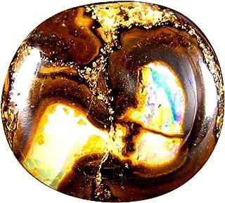 6.56 ct Fancy Cabochon Shape (14 x 12 mm) Play of Colors Australian Koroit Boulder Opal Natural Loose Gemstone