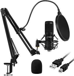میکروفن خازنی USB ، EPTISON 192kHZ / 24bit کیت میکروفن حرفه ای کاردیایی Podcast PC با بازوی بوم ، شوک مانت ، فیلتر پاپ ، برای ضبط ، بازی ، YouTube ، Voice Over ، جلسه