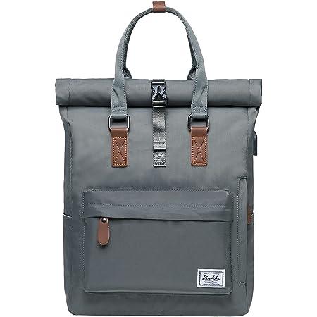 KAUKKO Rucksack Damen Herren Schön und Durchdacht Daypack Handtasche mit Laptopfach für Schul, Ausflüge,Uni,für 12 Zoll Notebook, mit USB-Ladebuchse, 13L